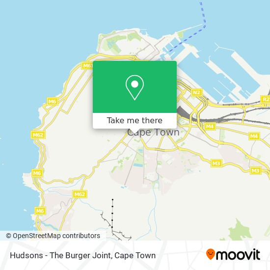 Hudsons - The Burger Joint map