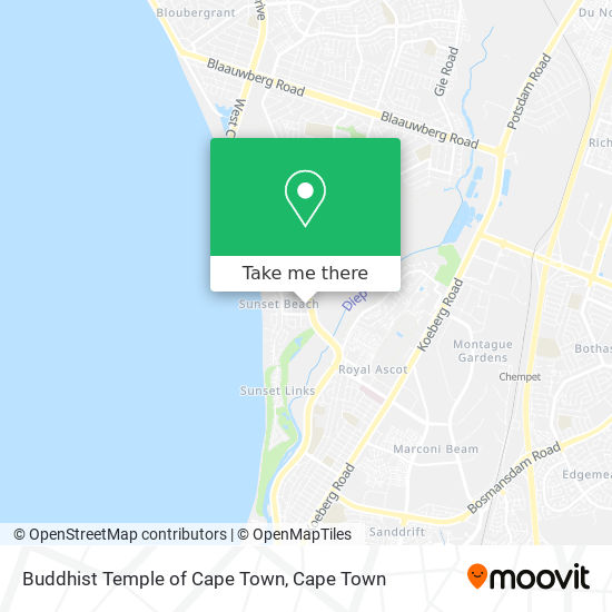 Buddhist Temple of Cape Town map