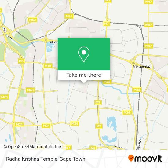 Radha Krishna Temple map