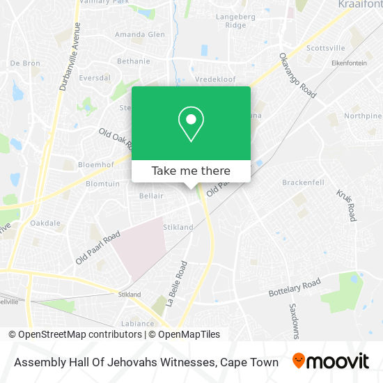 Assembly Hall Of Jehovahs Witnesses map