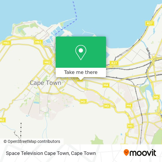 Space Television Cape Town map