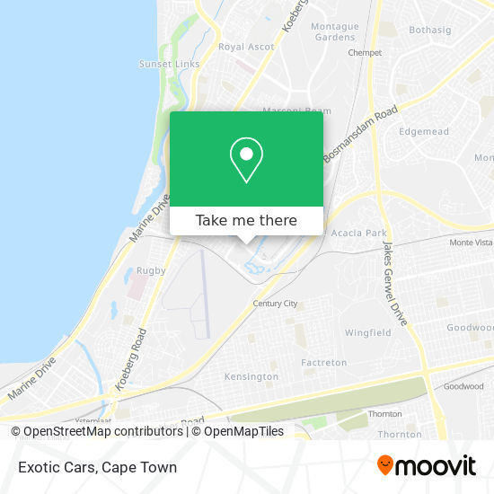 Exotic Cars map