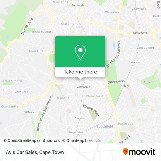Avis Car Sales map