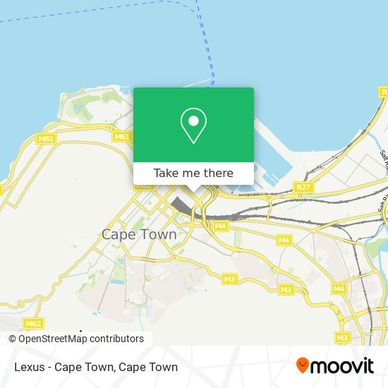 Lexus - Cape Town map