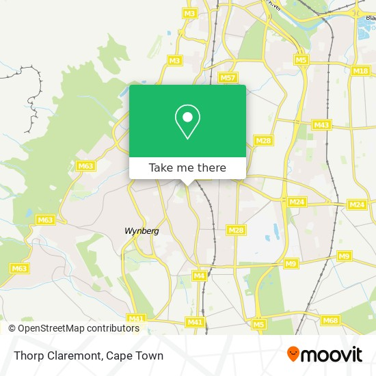 Thorp Claremont map