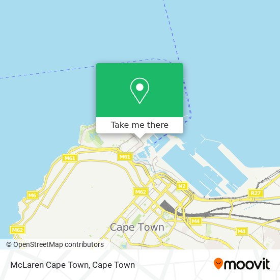 McLaren Cape Town map