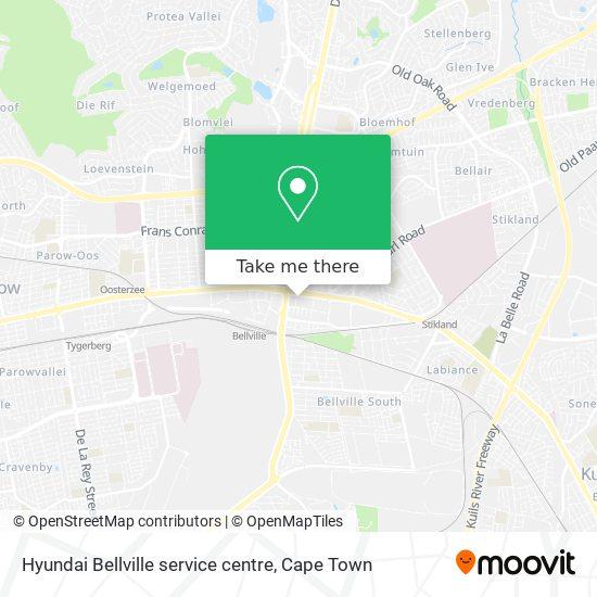Hyundai Bellville service centre map