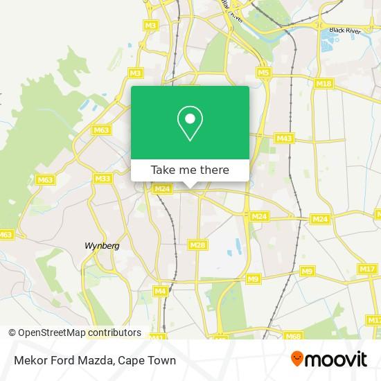 Mekor Ford Mazda map