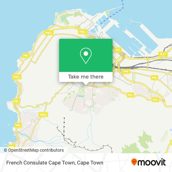 French Consulate Cape Town map