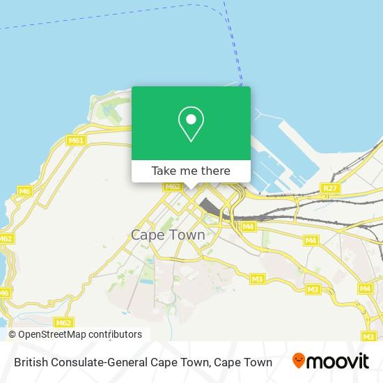 British Consulate-General Cape Town map