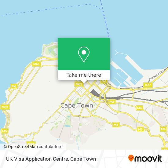 UK Visa Application Centre map