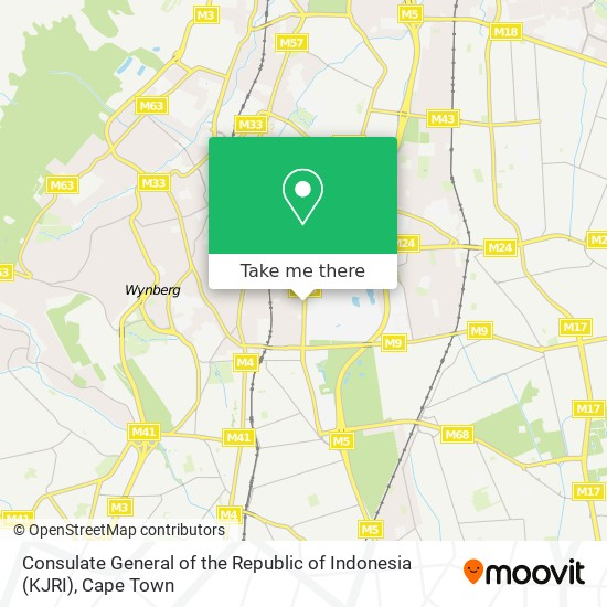 Consulate General of the Republic of Indonesia (KJRI) map