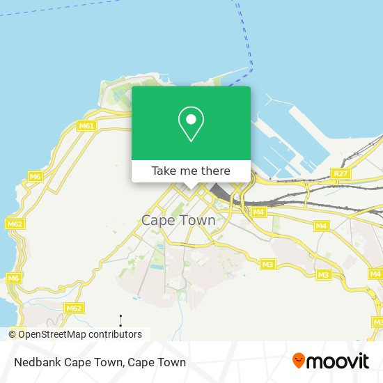 Nedbank Cape Town map