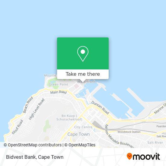Bidvest Bank map
