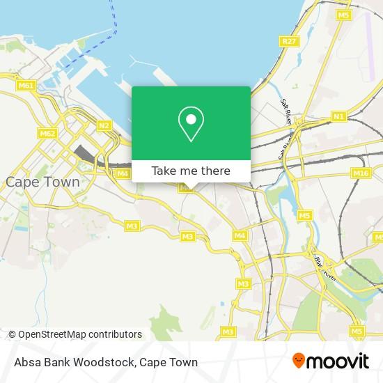 Absa Bank Woodstock map