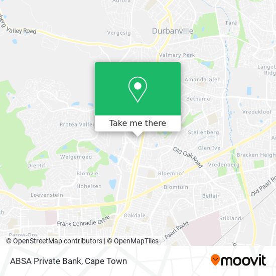 ABSA Private Bank map