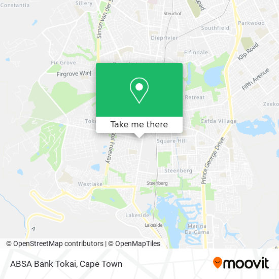 ABSA Bank Tokai map