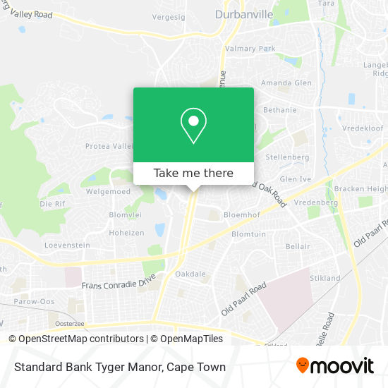 Standard Bank Tyger Manor map