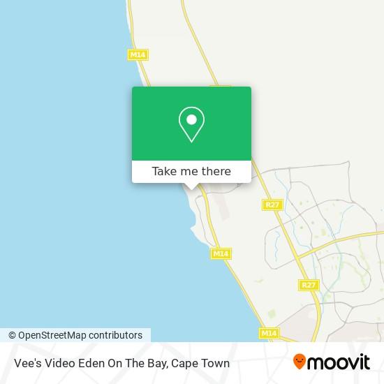Vee's Video Eden On The Bay map