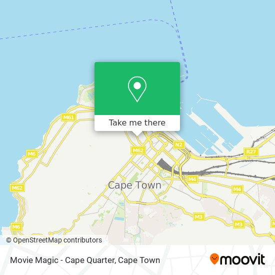 Movie Magic - Cape Quarter map