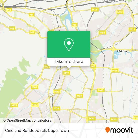 Cineland Rondebosch map
