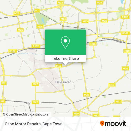 Cape Motor Repairs map