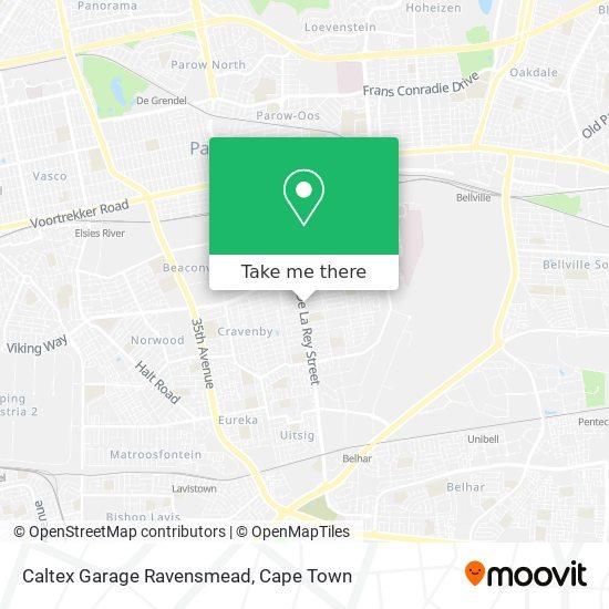 Caltex Garage Ravensmead map