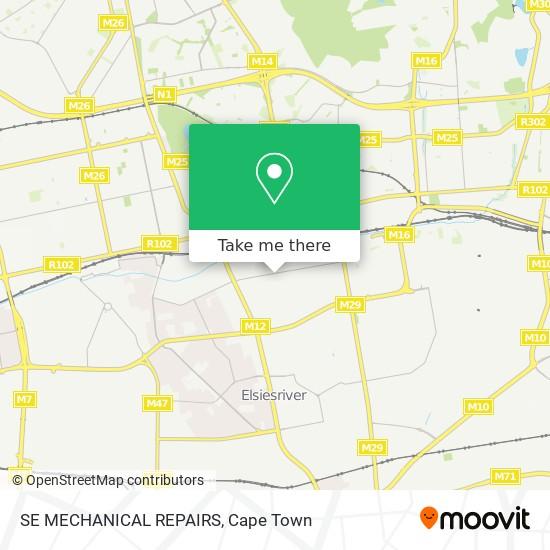SE MECHANICAL REPAIRS map