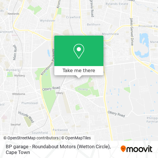 BP garage - Roundabout Motors (Wetton Circle) map