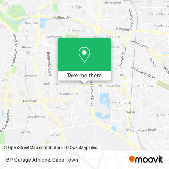 BP Garage Athlone map