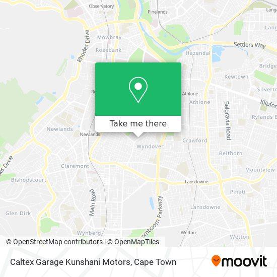 Caltex Garage Kunshani Motors map