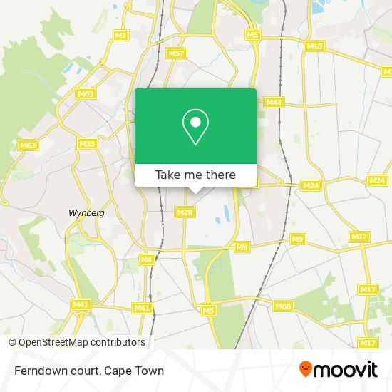 Ferndown court map