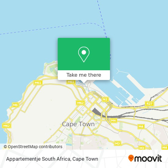 Appartementje South Africa map