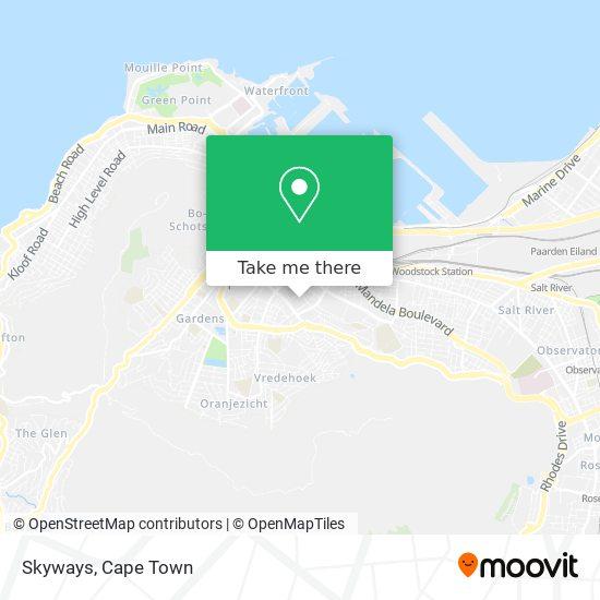 Skyways map