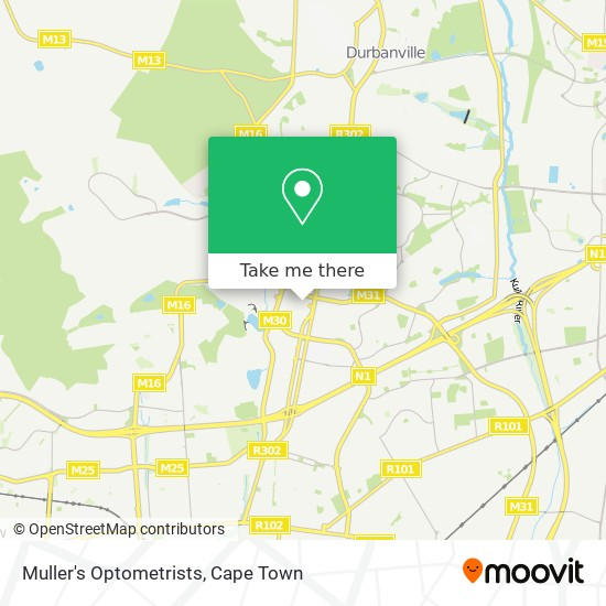 Muller's Optometrists map