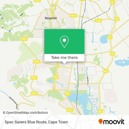 Spec Savers Blue Route map