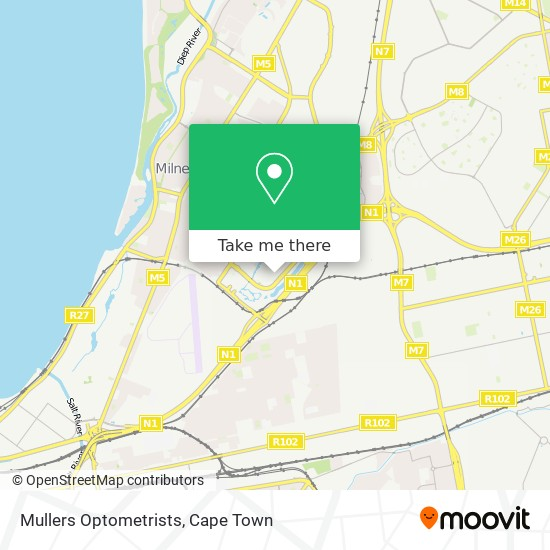 Mullers Optometrists map