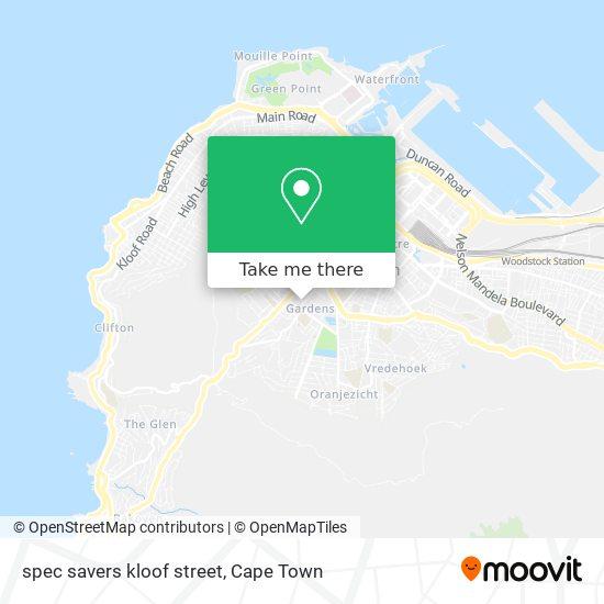 spec savers kloof street map