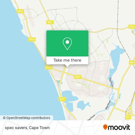 spec savers map