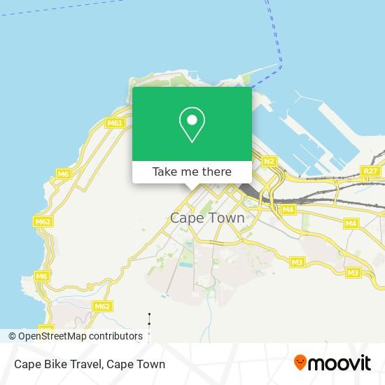 Cape Bike Travel map