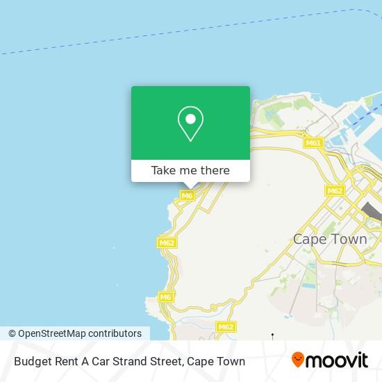 Budget Rent A Car Strand Street map