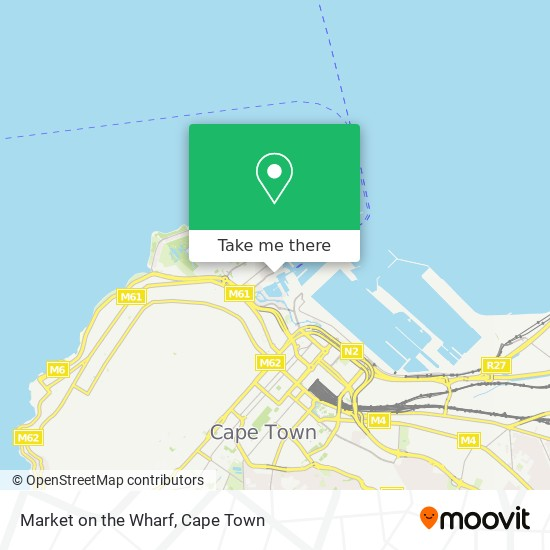 Market on the Wharf map