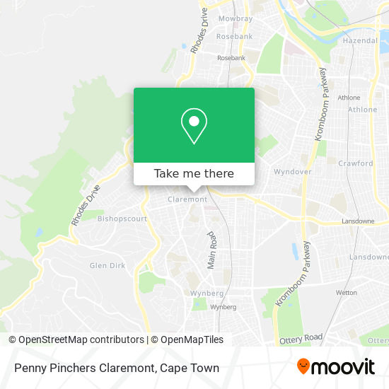 Penny Pinchers Claremont map