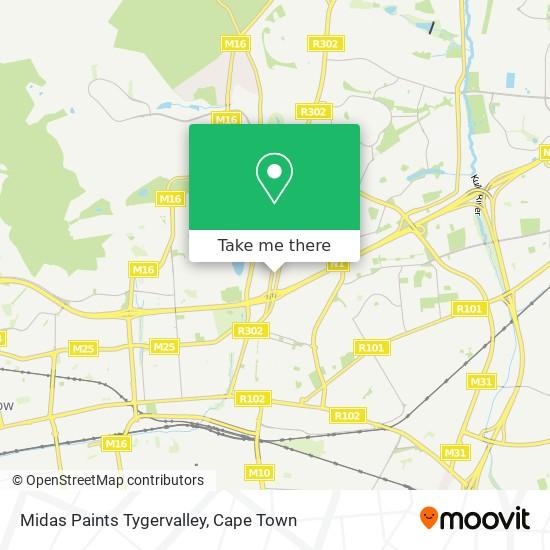 Midas Paints Tygervalley map
