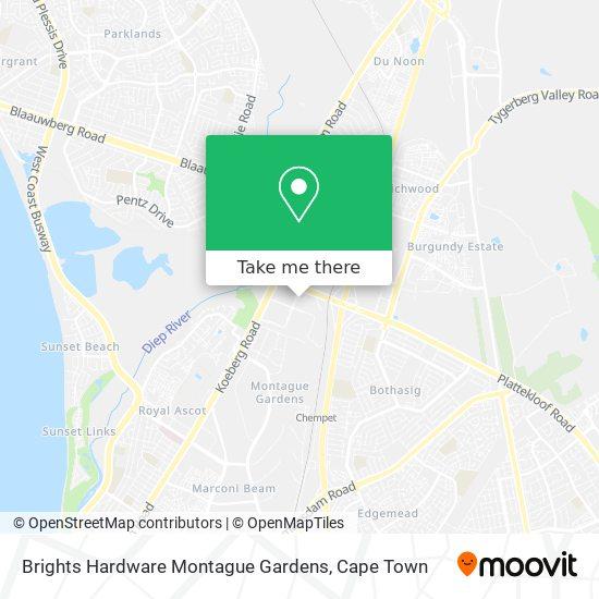 Brights Hardware Montague Gardens map