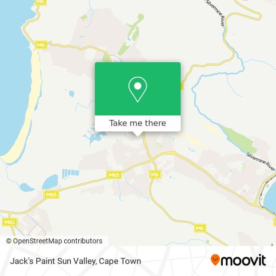 Jack's Paint Sun Valley map