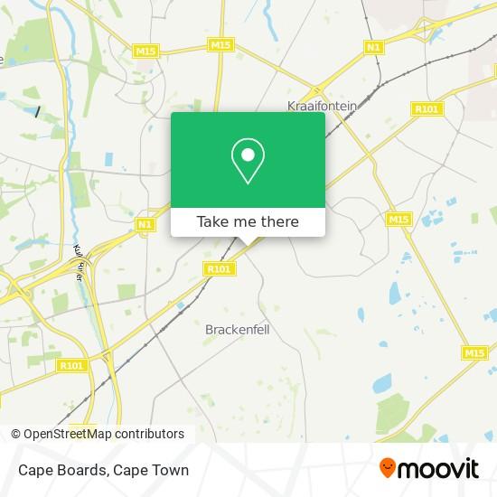 Cape Boards map