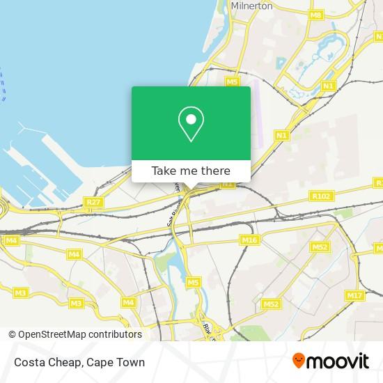 Costa Cheap map
