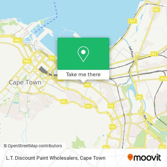 L.T. Discount Paint Wholesalers map