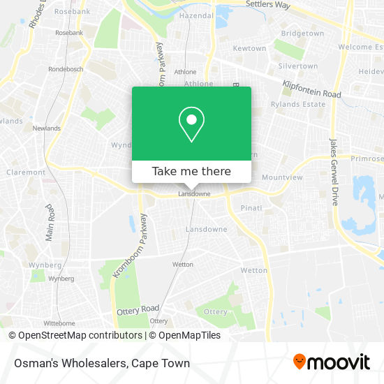 Osman's Wholesalers map